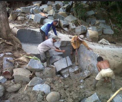 Jenis batu alam untuk dinding